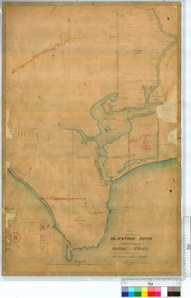 Survey on the Blackwood River and Hardy Inlet by Hillman, Turner and Edwards, later additions by ...