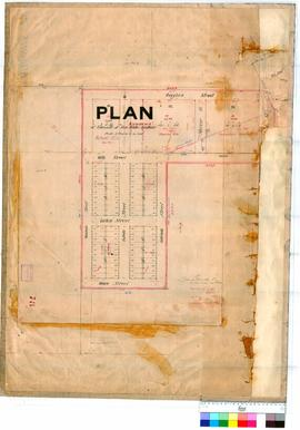 Kanowna 78. Plan of townsite of Kanowna (White Feather). Surveyors rough field plan, Lots 1 to 80...